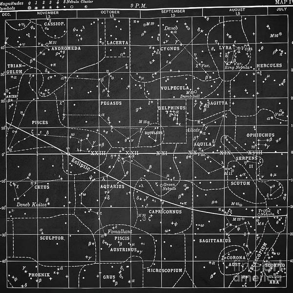 Digital Art - Zodiac Square Vintage by Edward Fielding