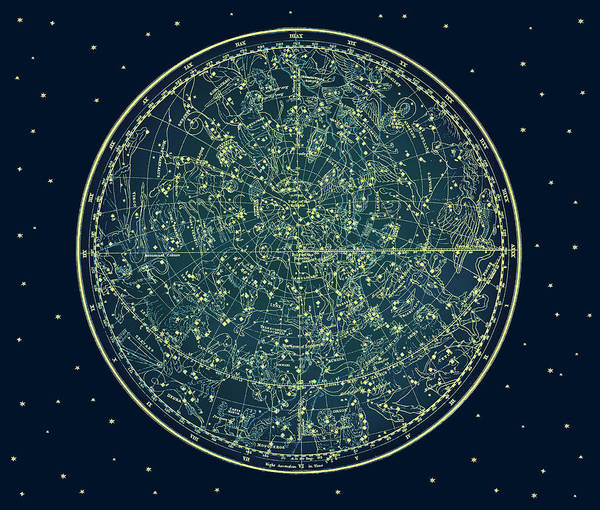Photograph - Zodiac Star Map by Marianna Mills