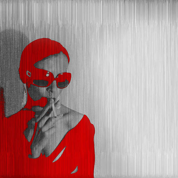 Digital Photograph - Zoe In Red by Naxart Studio