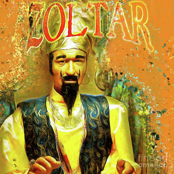 Photograph - Zoltar Speaks Fortune Teller 20161108v2sq by Wingsdomain Art and Photography