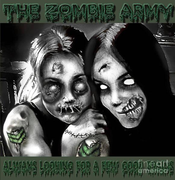 Ghoul Digital Art - Zombie Army Girls by Yvonne Willemsen