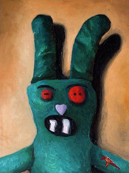 Painting - Zombie Bunny by Leah Saulnier The Painting Maniac