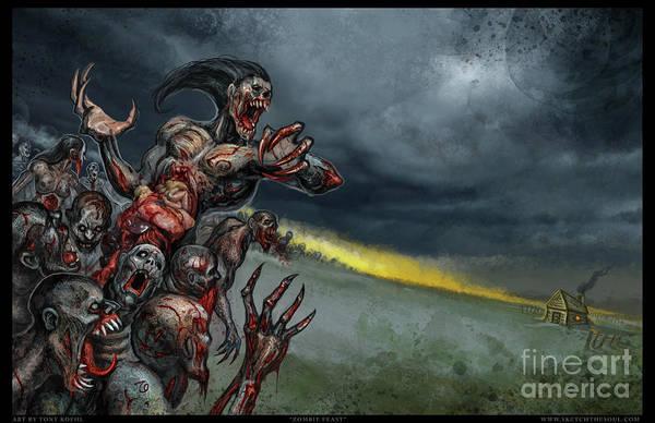 Mixed Media - Zombie Feast by Tony Koehl