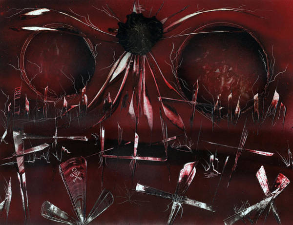 Painting - Zombie Graveyard by Jason Girard