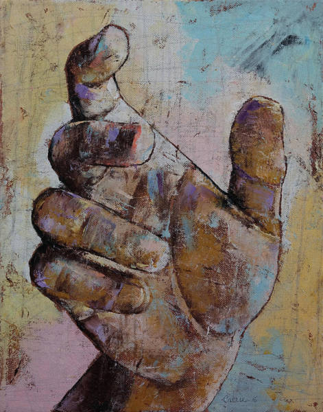 Reach Painting - Zombie Hand by Michael Creese