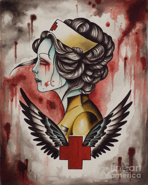 Painting - Zombie Nurse by Curiobella- Sweet Jenny Lee