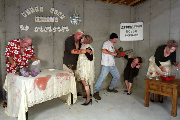 The Undead Photograph - Zombie Post Apocalypse Ball, Party Like There's No Tomorrow by Karen Foley