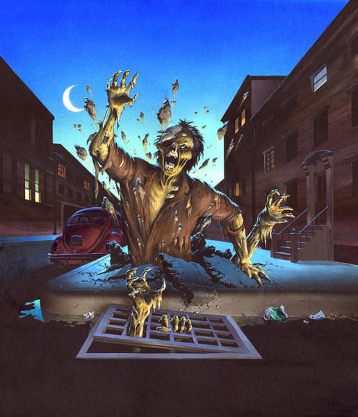 Sewer Painting - Zombies by Richard Hescox
