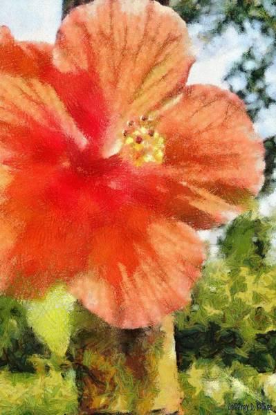 Hibiscus Flower Painting - Zoo Flower by Jeffrey Kolker