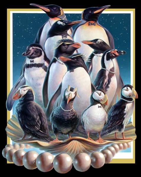 Painting - Zoofari Poster 2004 The Penguins by Hans Droog
