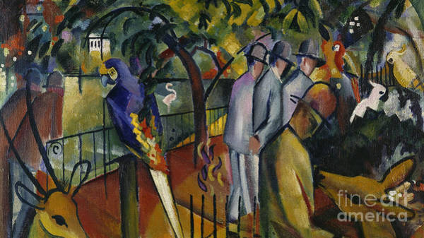 Zoological Wall Art - Painting - Zoological Garden I by August Macke