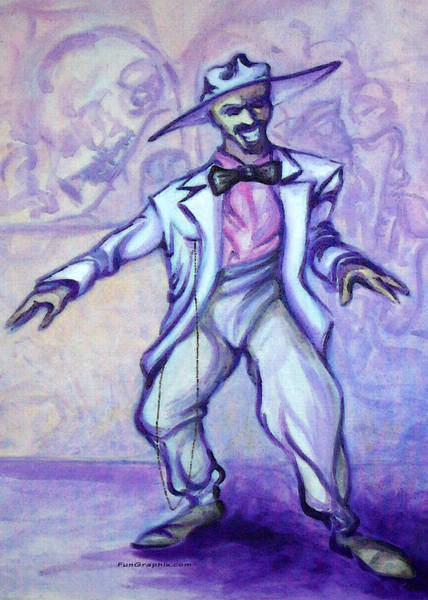 Painting - Zoot Suit by Kevin Middleton