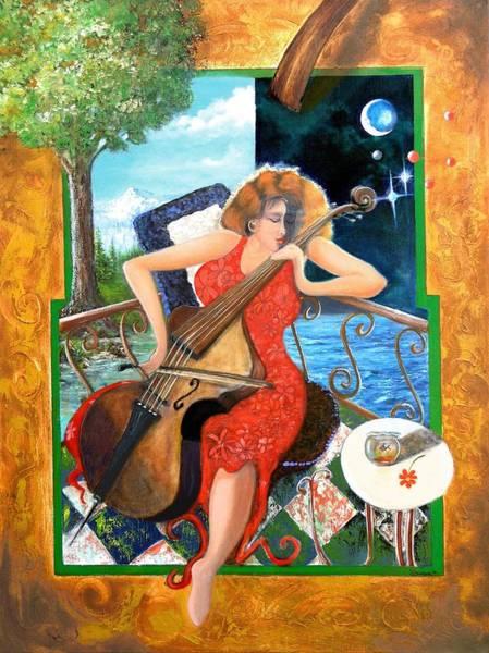 Cellist Painting - Zoraida by James Berger