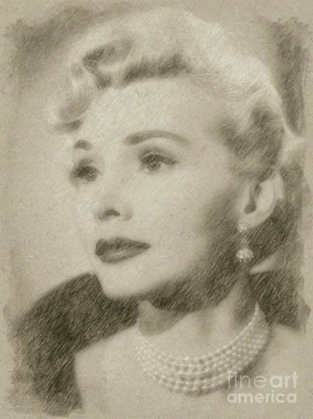 Wizard Drawing - Zsa Zsa Gabor, Actress by Frank Falcon