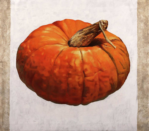 Pumpkins Wall Art - Painting - Zucca Borgogno by Guido Borelli