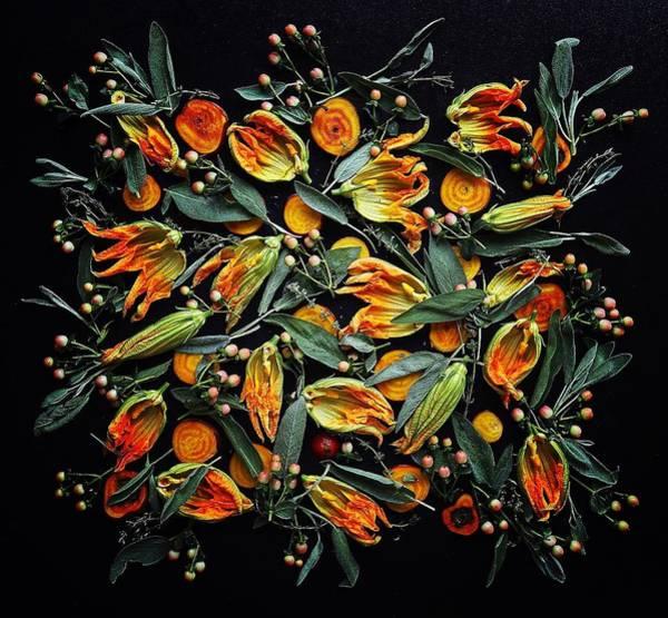 Zucchini Flower Patterns Art Print