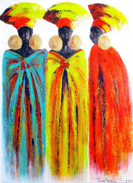 Painting - Zulu Ladies by Tracey Armstrong