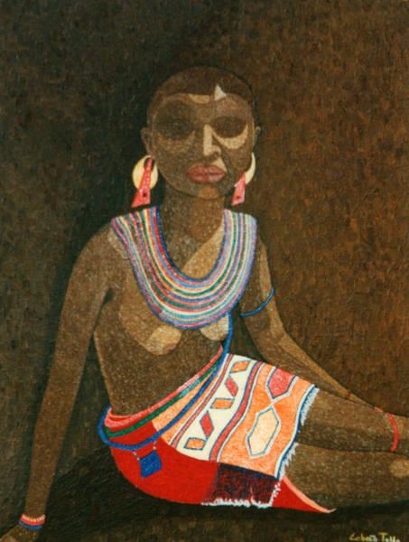 Zulu Woman With Beads Art Print