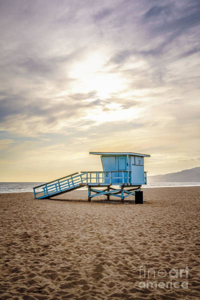 Wall Art - Photograph - Zuma Beach Lifeguard Tower #2 Malibu Sunset by Paul Velgos