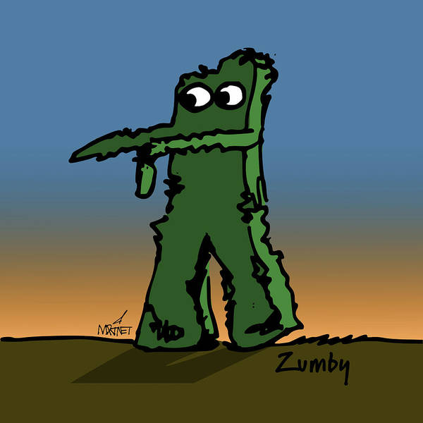Gumby Digital Art - Zumby by Mike Martinet