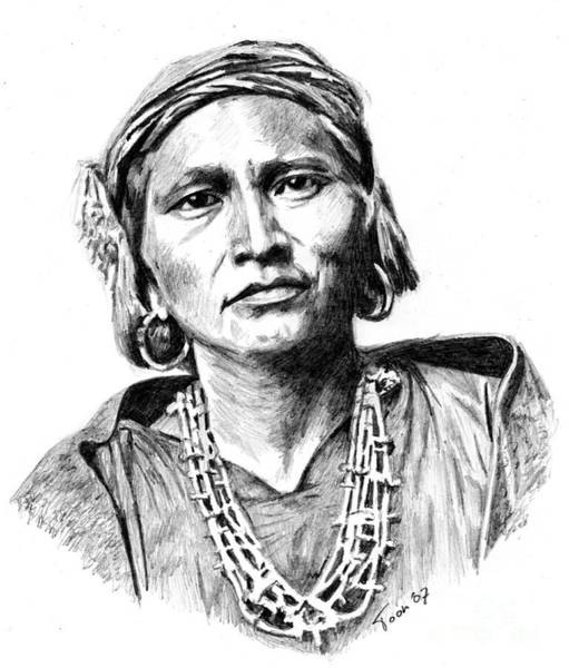 Drawing - Zuni Governor by Toon De Zwart