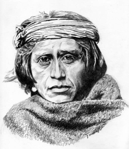 Drawing - Zuni Man by Toon De Zwart