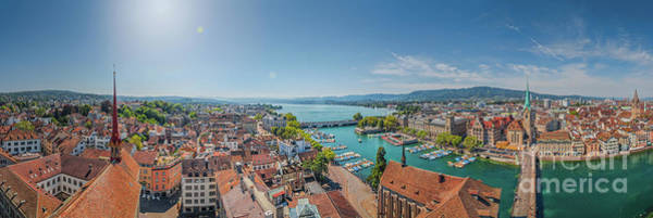 Zuerich Wall Art - Photograph - Zurich Rooftops by JR Photography