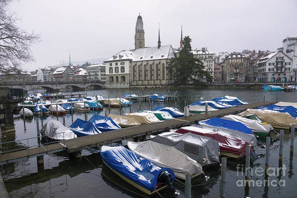 Wall Art - Photograph - Zurich Snow Boats  by Rob Hawkins
