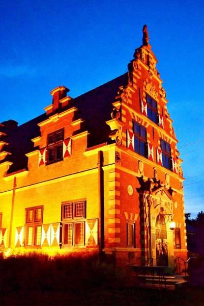 Photograph - Zwaanwndal Museum At Night by Kim Bemis