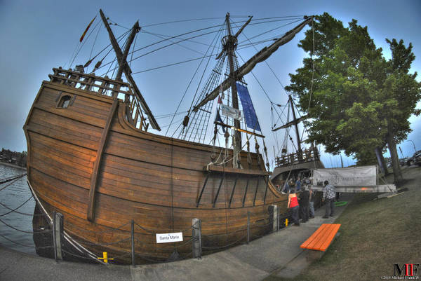 Wall Art - Photograph - 0015 Tall Ships Noa Santa Maria by Michael Frank Jr