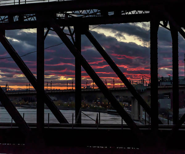 Photograph - 008 - Trestle Sunset by David Ralph Johnson