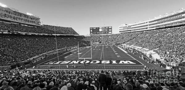 Photograph - 0095 Bw Camp Randall Stadium by Steve Sturgill