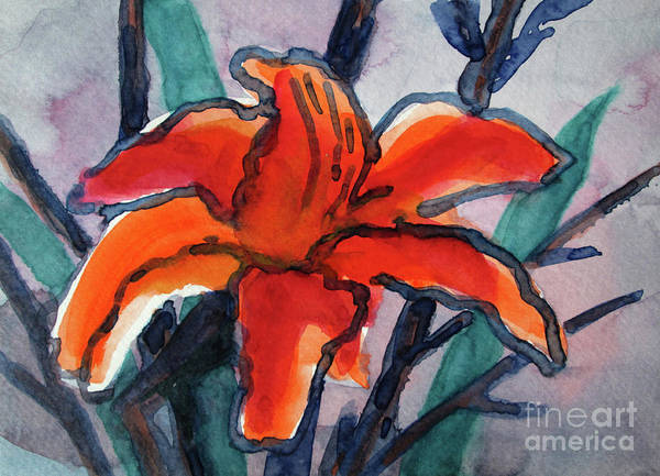 Wall Art - Painting - 01 Lily by Kathy Braud