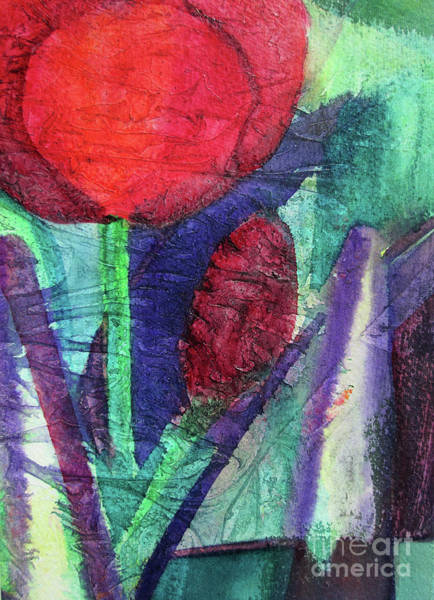 Wall Art - Painting - 02 Tulip Abstract      by Kathy Braud