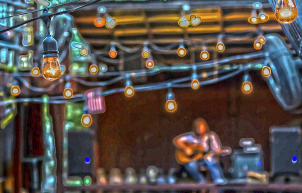 Photograph - 025 - Guitarist And Lights by David Ralph Johnson