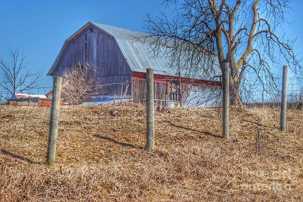 Photograph - 0289 Marathon's Hay Barn On A Hill by Sheryl L Sutter