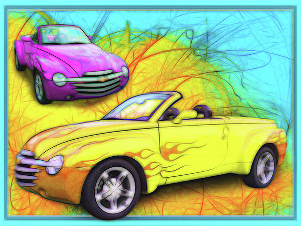 Digital Art - 03 Chevy Ssr by Rick Wicker