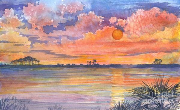 Wall Art - Painting - 05131 - Tyndall Sunset by Paul Brent