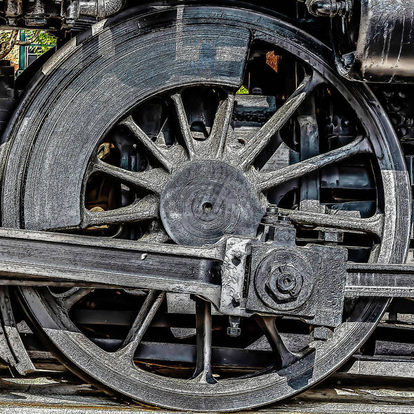 Photograph - 062 - Locomotive Wheel by David Ralph Johnson