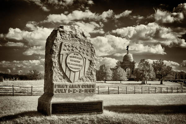 Wall Art - Photograph - 16th Vermont Infantry Monument by Paul W Faust - Impressions of Light