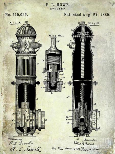 Wall Art - Photograph - 1889 Fire Hydrant Patent by Jon Neidert
