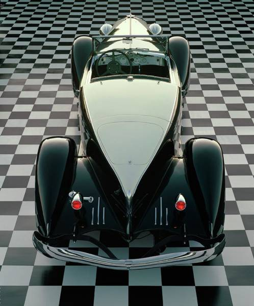 Sport Car Photograph - 1933 Duesenberg Model Sj Speedster With by Car Culture