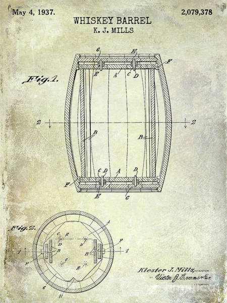 Wall Art - Photograph - 1937 Whiskey Barrel Patent by Jon Neidert