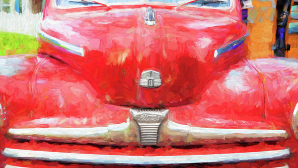 Dual Exhaust Photograph - 1947 Ford Super Deluxe Coupe 006 by Rich Franco