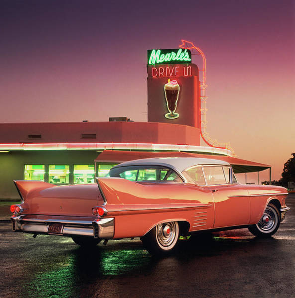 1958 Photograph - 1958 Cadillac Series 62 Coupe by Car Culture