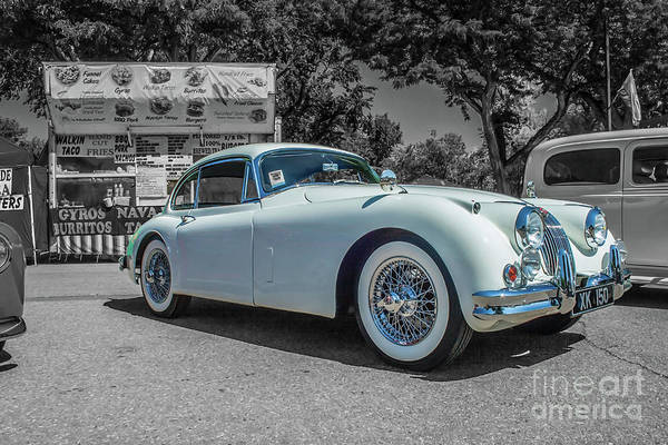 Photograph - 1958 Jaguar Xk 150 by Tony Baca