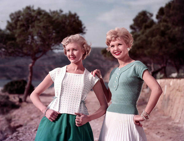 Beautiful People Photograph - 1959. Fashion. A Portrait Of A Two by Popperfoto