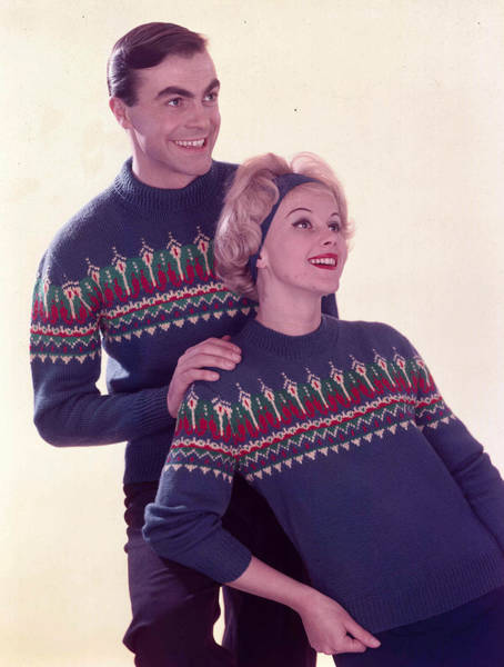 Heterosexual Couple Photograph - 1959. Fashion. A Portrait Of A Young by Popperfoto
