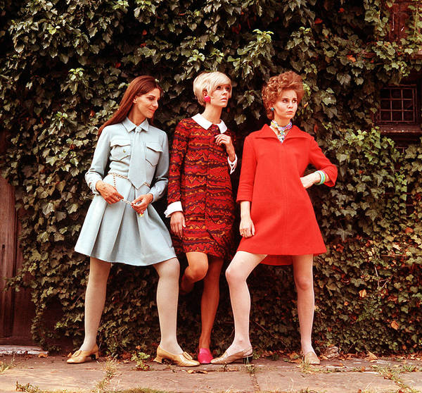 Happiness Photograph - 1967 A Picture Of Three Women Modeling by Popperfoto