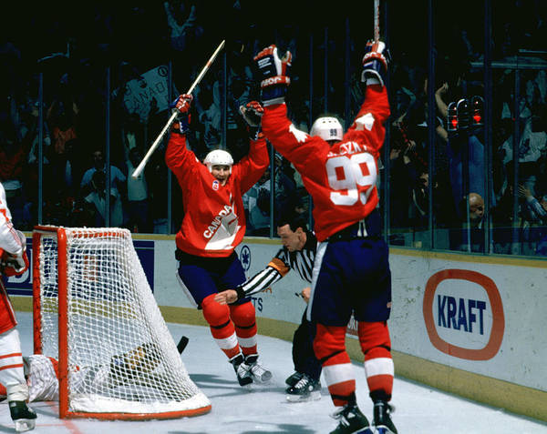 2 Photograph - 1987 Canada Cup - Game 2  Team Canada V by B Bennett